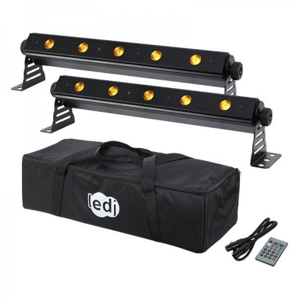 Hire LEDJ Q Batten Pack - 2 LED battens in road bag