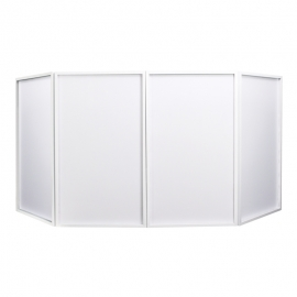 hire equinox-foldable-dj-screen-white