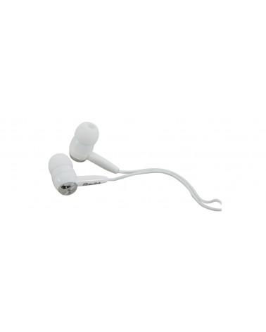 SILVER / WHITE IN EAR EARPHONES IPOD IPAD LAPTOP PHONE - FREE