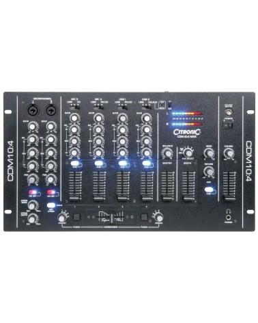 "Citronic CDM10:4 MK5 CDM10:4 (MkV) 19"" 4 Channel USB Mixer"