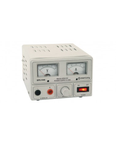 Mercury RPS-V40 Regulated Power Supply with Variable Output Voltage 0-20V/2A Max