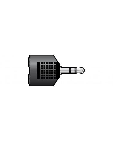 QTX 3.5mm Stereo Jack Plug to 2 x 3.5mm Stereo Jack Sockets