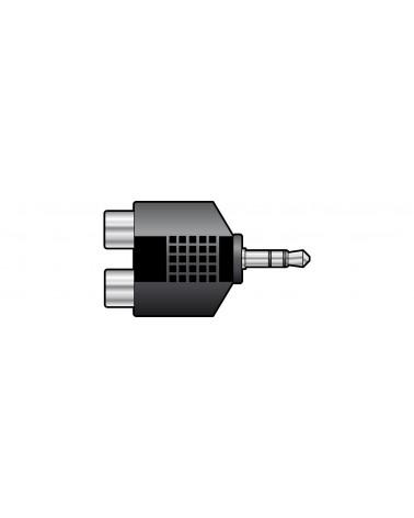 QTX 3.5mm Stereo Jack Plug to 2 x RCA Phono Sockets