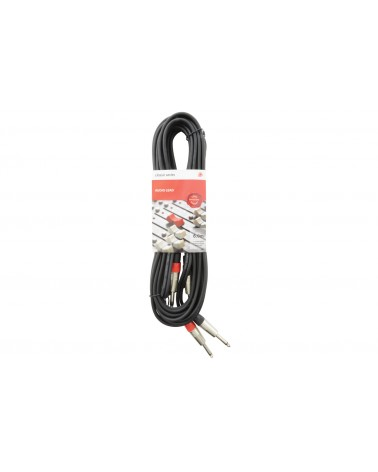 Chord 2M6J-J600 Classic 2 x 6.3mm to 2 x 6.3mm Mono Jack Plug Leads