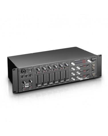 "LD Systems ZONE 624 - 19"" 4-Zone Mixer 3U,  LDZONE624"