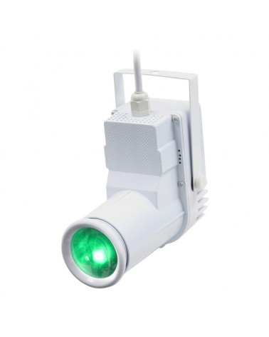 Equinox 12W quad-colour Pinspot (White Housing)