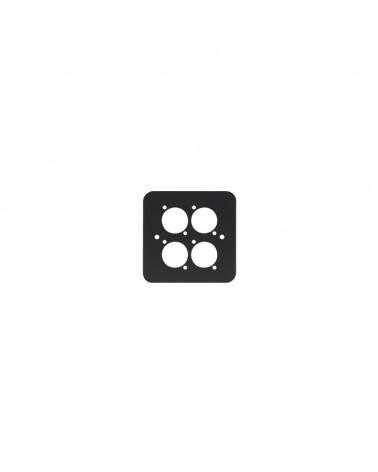 Single Gang 4 x D Type Wall Plate, Black (82511-4RC)
