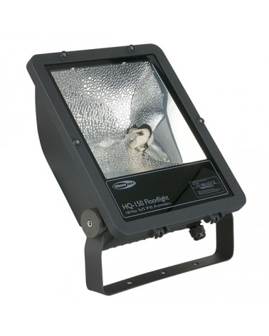 SHOWTEC Floodlight HQ-150 Black A-Sym. incl MH-150  IP65