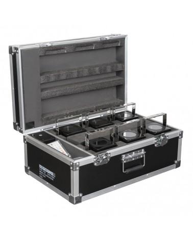 SHOWTEC Set 6x Eventspot 60 Q7 Black + case+ IR remote