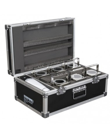 SHOWTEC Set 6x Eventspot 60 Q7 Polished + case+ IR remote