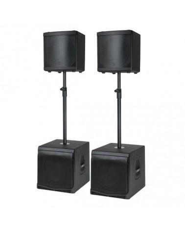 DAP DLM speakerset incl. poles (DLM-12A + DLM-12SA)