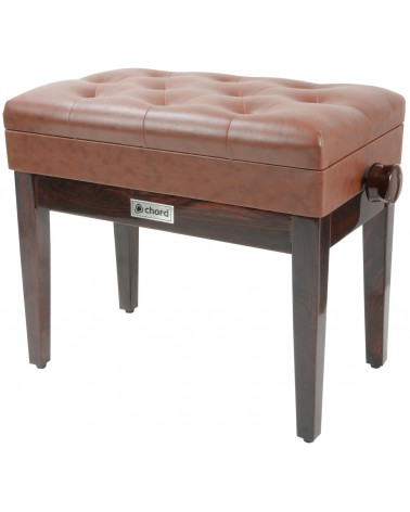 Chord Piano bench with storage - brown