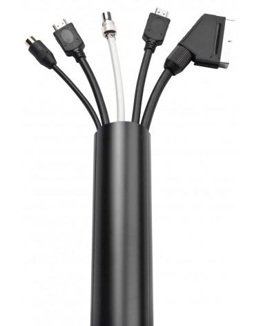 Dline Trunking 50x25mm 1m Black Retail