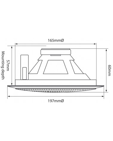 Adastra Metal Quick Fit 100V Ceiling Speaker 5.25in 6W