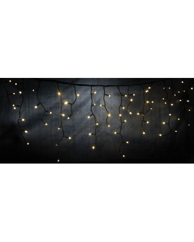 Lyyt 180LED Outdoor Static Icicle Light WW
