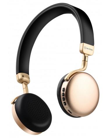 Avlink Metallic Bluetooth Headphones Gold