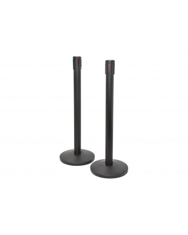 Citronic Retractable Crowd Control Barriers - Set of 2 Powder Black