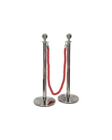 Citronic VIP Queue Barrier Posts and Rope Set