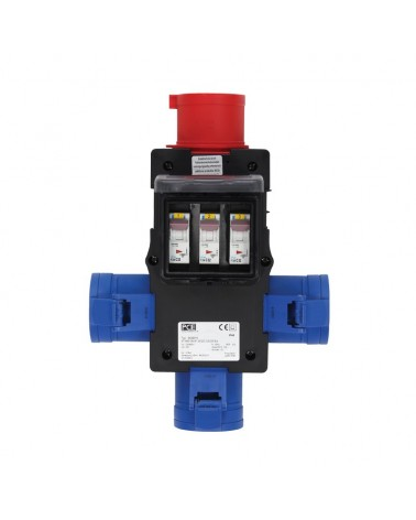 ST ANTON Distribution Box 32A 415V In, 3 x 32A 240V Out (9439019)