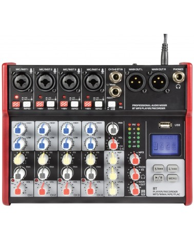 Citronic CSM-6 Mixer with USB / Bluetooth Player