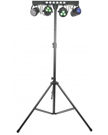 Qtx Stage Bar - PAR+ Fireball + Laser + UV/Strobe + Stand