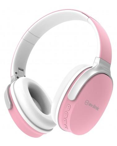 Avlink Over-Ear Wireless Bluetooth Headphones Pink