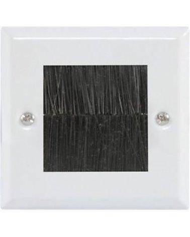 Avlink Brush Wallplate 1G White Steel