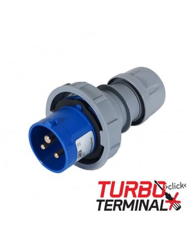 16A 230V 2P+E IP67 Plug Grey (0132-6tt)