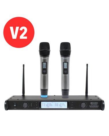 W Audio DTM 800H Twin Handheld Diversity System (863.0Mhz-865.0Mhz) V2 Software