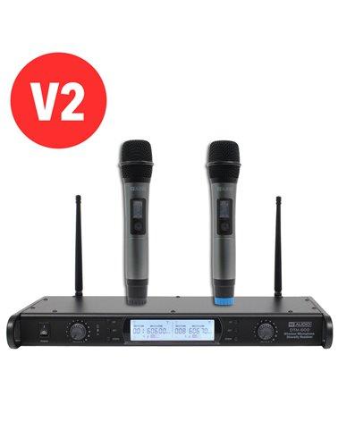 W Audio DTM 600H Twin Handheld Diversity System (606.0Mhz-614.0Mhz) V2 Software