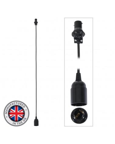 1.0m BC Festoon Pendant - E27 Lamp Holder