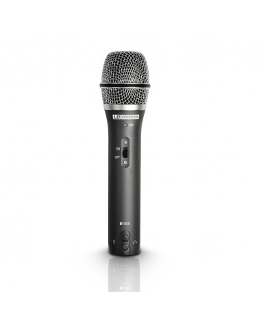 LD Systems D 1 USB - USB / XLR Dynamic Vocal Microphone with Headphone Output