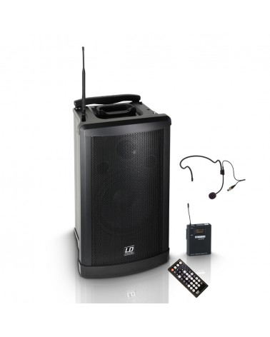 LD Systems Roadman 102 HS - Portable PA Speaker with Headset