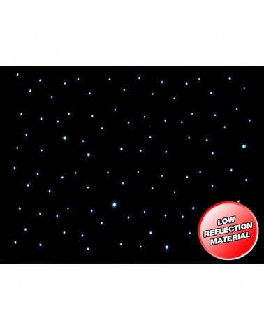 LEDJ 3 x 2m LED Starcloth System, Black Cloth, CW