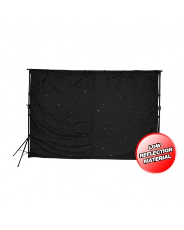 LEDJ 3 x 2m LED Starcloth System with Stand & Bag Set