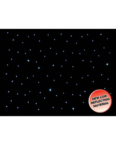 LEDJ DMX 8 x 4.5m LED Starcloth System, Black Cloth, CW