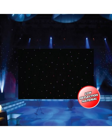 LEDJ PRO 6 x 3m Tri LED Black Starcloth (Add on for STAR12)