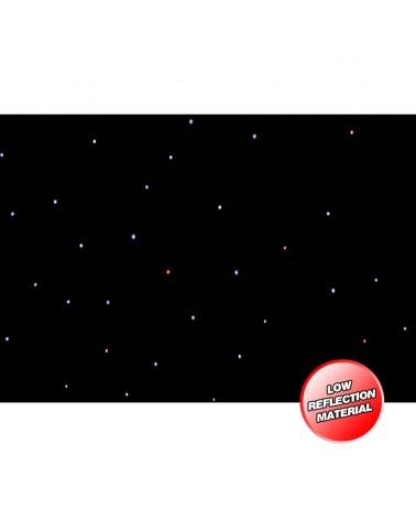 LEDJ PRO 3 x 2m Tri LED Black Starcloth (Excludes Controller)