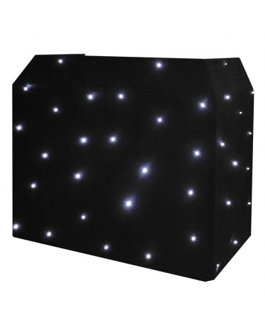 Equinox DJ Booth LED Starcloth System, Black Cloth, CW
