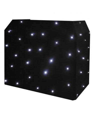 Equinox DJ Booth LED Starcloth System, Black Cloth, CW
