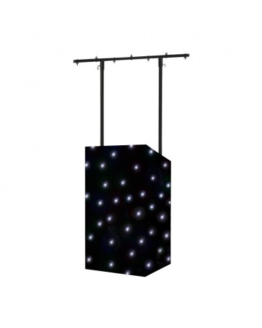 Equinox MICRON DJ Booth LED Starcloth System, Black Cloth, CW