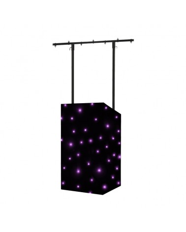 Equinox MICRON DJ Booth Tri LED Starcloth System, Black Cloth