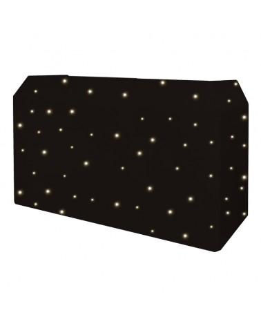 Equinox PRO DJ Booth LED Starcloth System, Black Cloth, WW