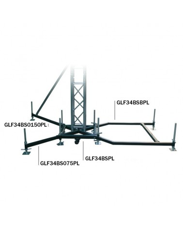 Global Truss Ground Support F34PL BS0-75 Steel