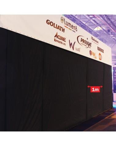 LEDJ 4 x 1m Black Serge Extension Panel