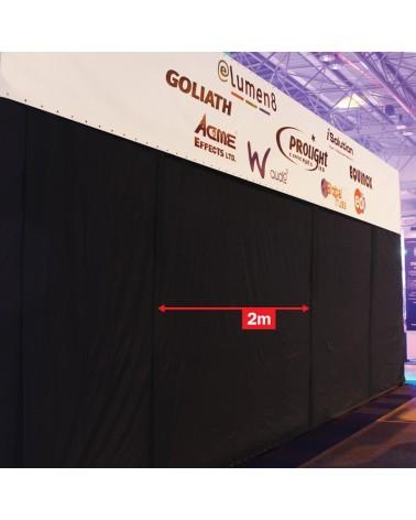 LEDJ 4 x 2m Black Serge Extension Panel