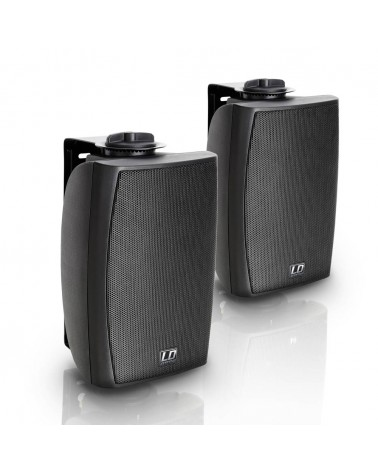 """LD Systems Contractor WMS 42 B 100 V - 4"""" 2-way wall mount speaker 100 V black (pair)"""