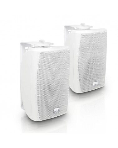 """LD Systems Contractor WMS 42 W - 4"""" 2-way wall mount speaker white (pair)"""