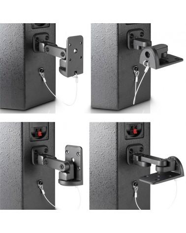 LD Systems SAT WMB 10 B - Wall mount for speakers black,  LDSATWMB10B