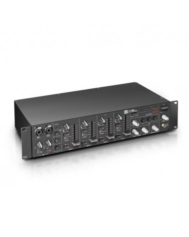 "LD Systems ZONE 423 - 19"" 2-Zone Mixer 2U"